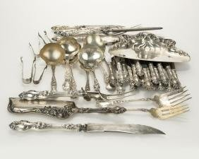 Group of Wallace ''Violet'' sterling flatware