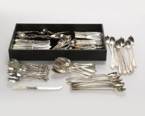 A group of miscellaneous flatware