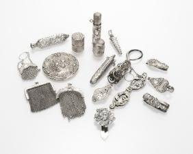 A Group Of Chatelaines And Accessories