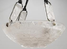 R. Lalique 'Charmes' French Glass Chandelier