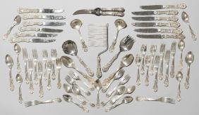 American Sterling Silver Francis I flatware set 59 Pc.