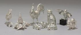 Christofle Lumiere France Silver Plate Animal Figurines