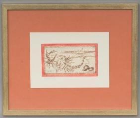 Francoise Gilot (b. 1921), Scorpio, watercolor/ink