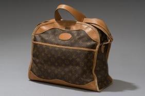 Louis Vuitton Leather Monogram Canvas Travel Bag