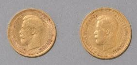 Russian Gold Nicholas II Coins