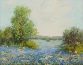 Hazel Massey (1907-1990), Bluebonnets, oil