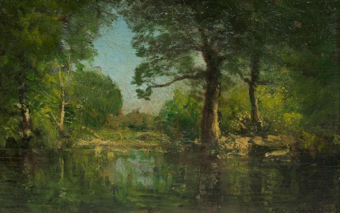 """Julian Onderdonk (1882-1922), """"A Woodland Pool"""", oil"""