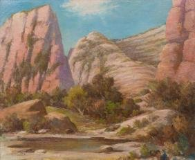 Herbert Sartelle (1885-1955), Big Bend, Texas, oil