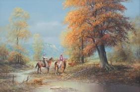 "Jack Bryant (1929-2012), ""Fall, Near the Brazos"", 1977,"