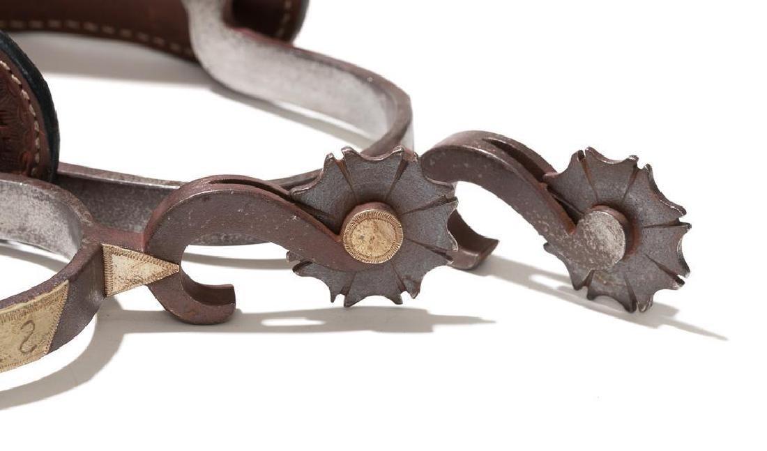 Unmarked silver mounted bottle opener spurs - 5