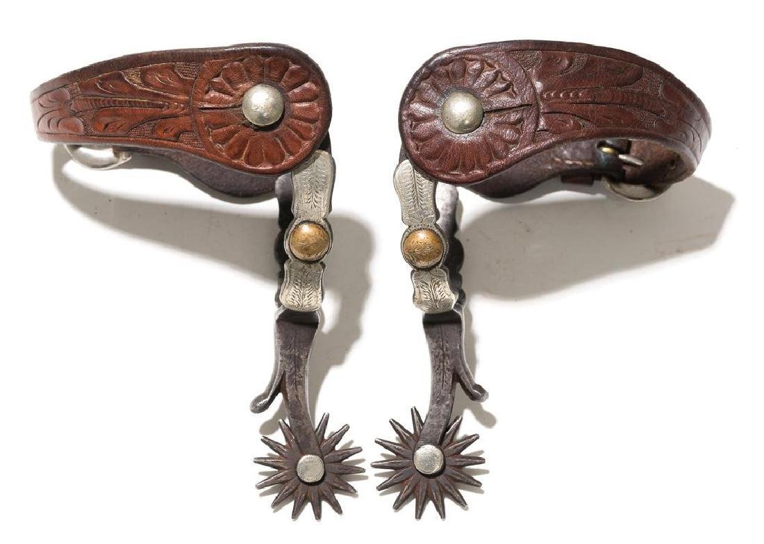J.R. McChesney No. 3 pattern double mounted spurs