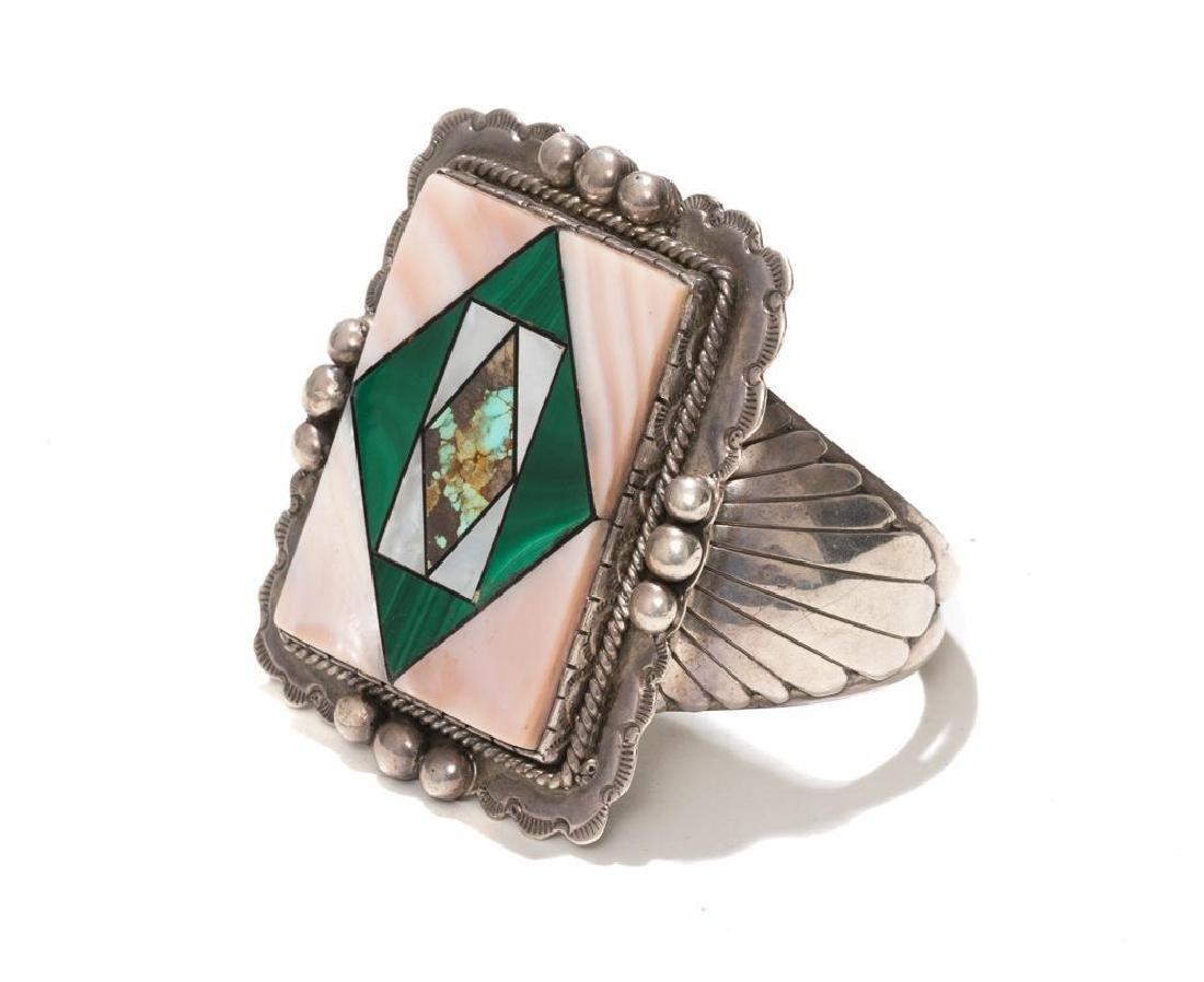 Wilson Jim 3 Piece Malachite Jewelry Set - 3