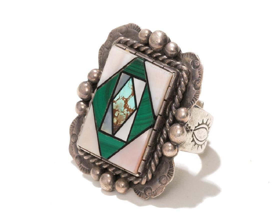 Wilson Jim 3 Piece Malachite Jewelry Set - 5