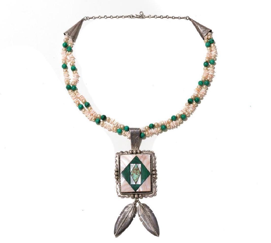 Wilson Jim 3 Piece Malachite Jewelry Set - 7