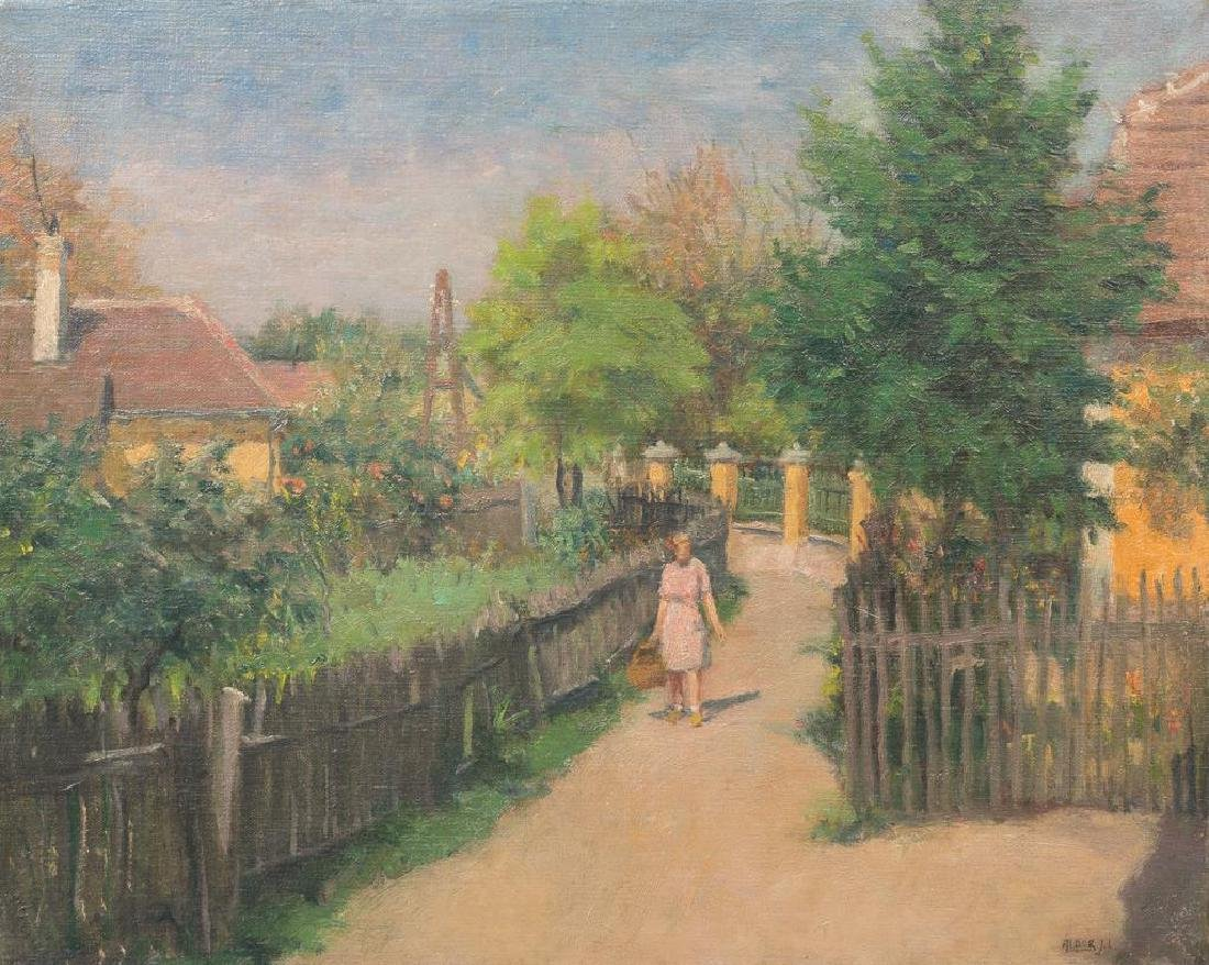 Janos Laszlo Aldor Hungarian 1895 1944 Village Walk Jul 02