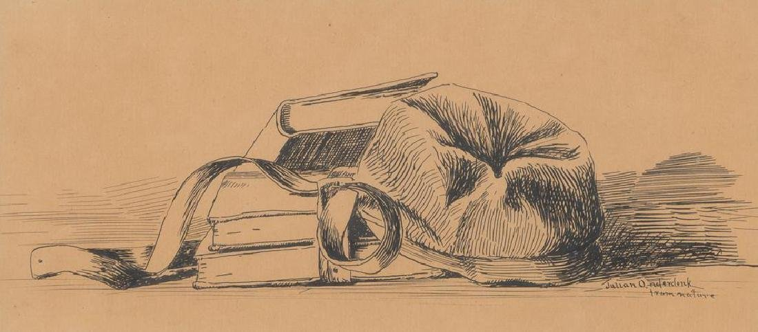 "Julian Onderdonk (1882-1922), ""Hat and School Books"","