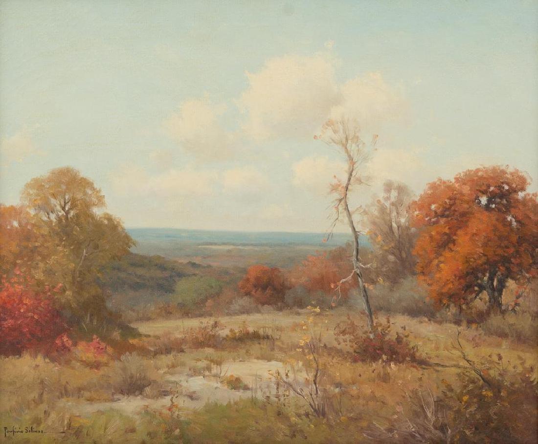 Porfirio Salinas (1910-1973), Autumn Hill Country, oil