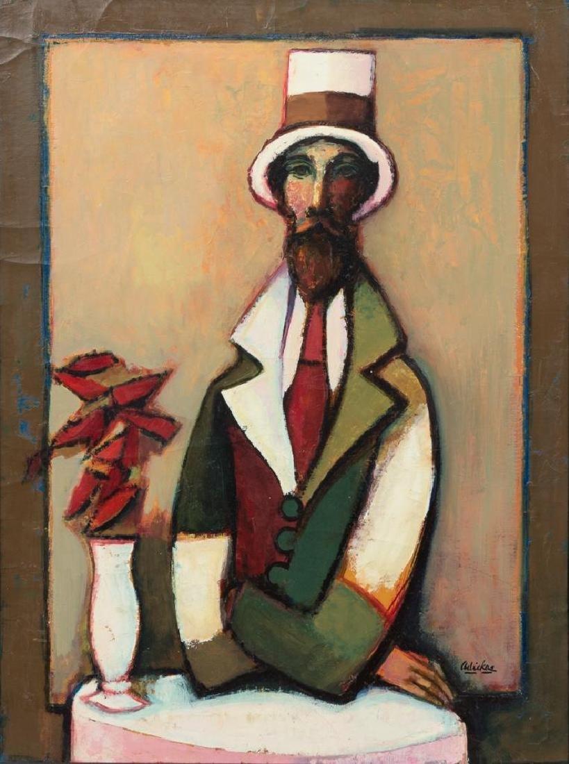 David Adickes (b. 1927), Man at a Table, oil on canvas,
