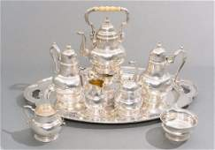 William  Mary by Lunt 8 Piece Sterling Tea Service
