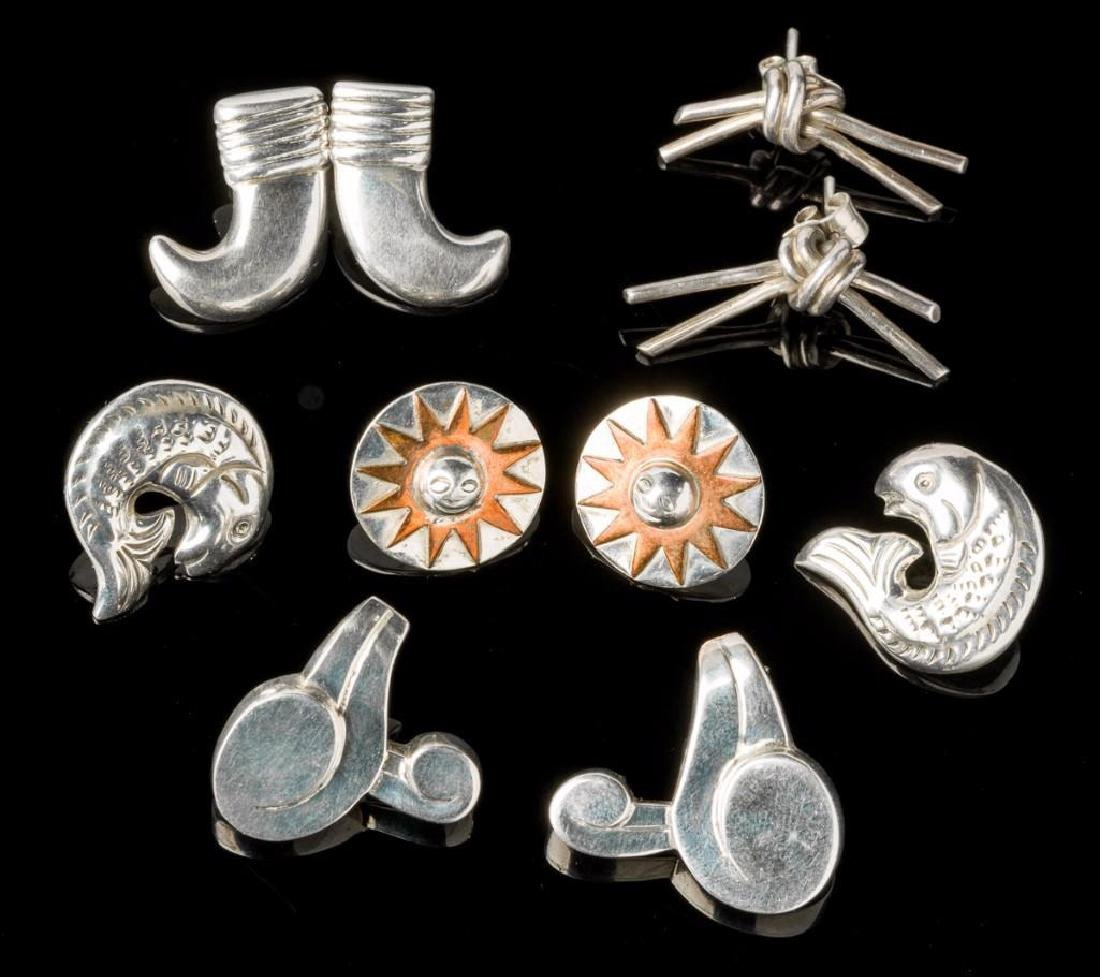 Estate Jewelry 5 Pairs of William Spratling Earrings