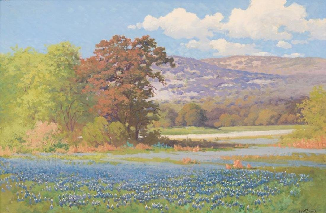 Robert Wood (1889-1979), Texas Bluebonnets, oil