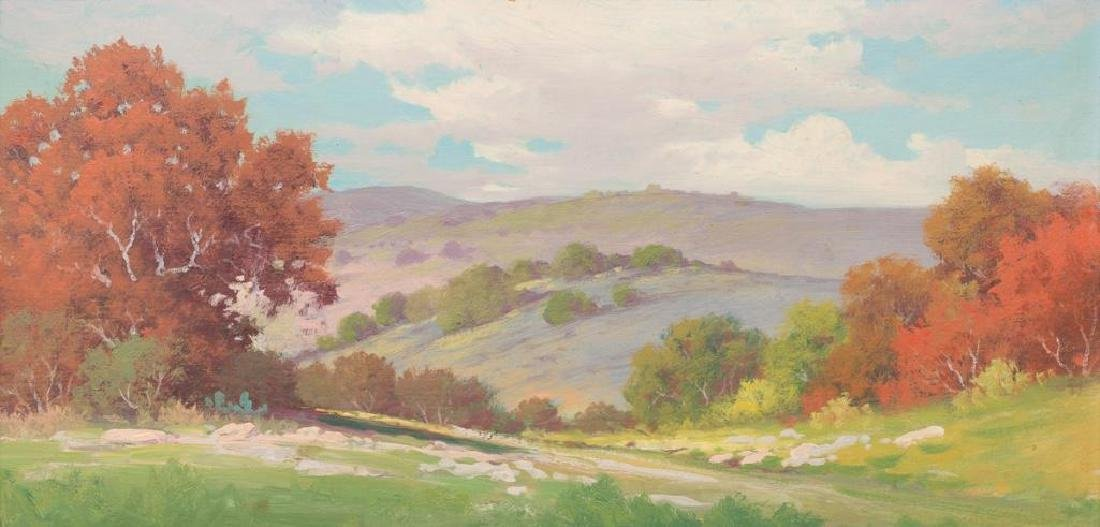 Robert Wood (1889-1979), Autumn Buckeye, oil