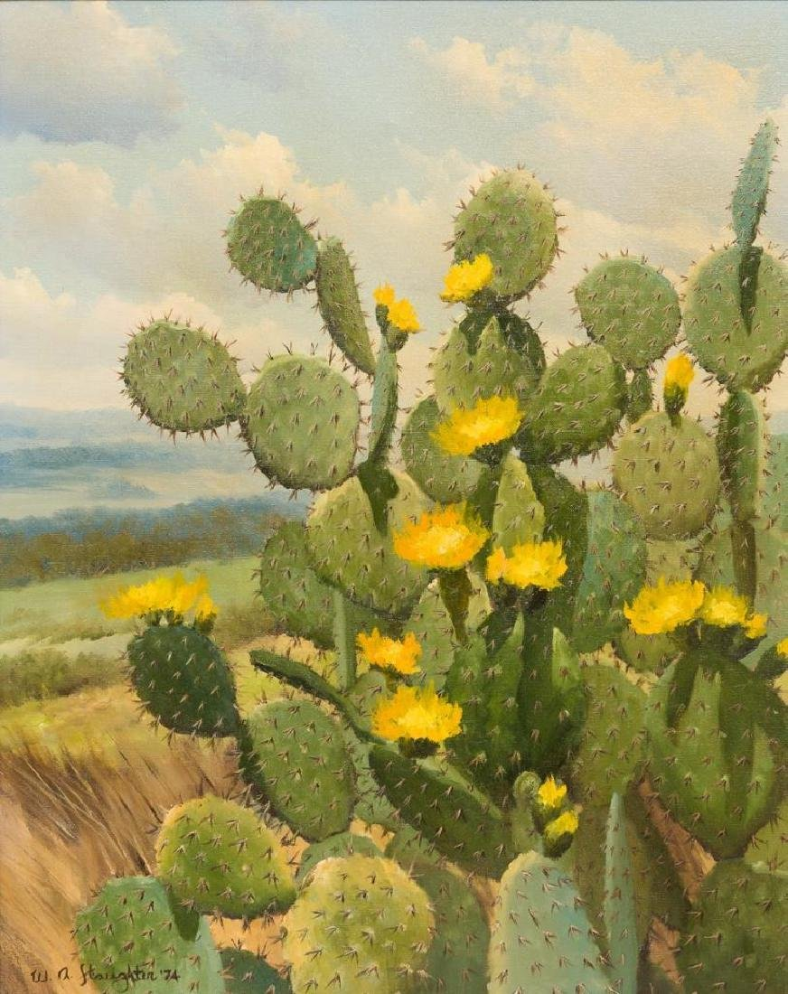 William Slaughter (1923-2003), Blooming Cactus, 1974