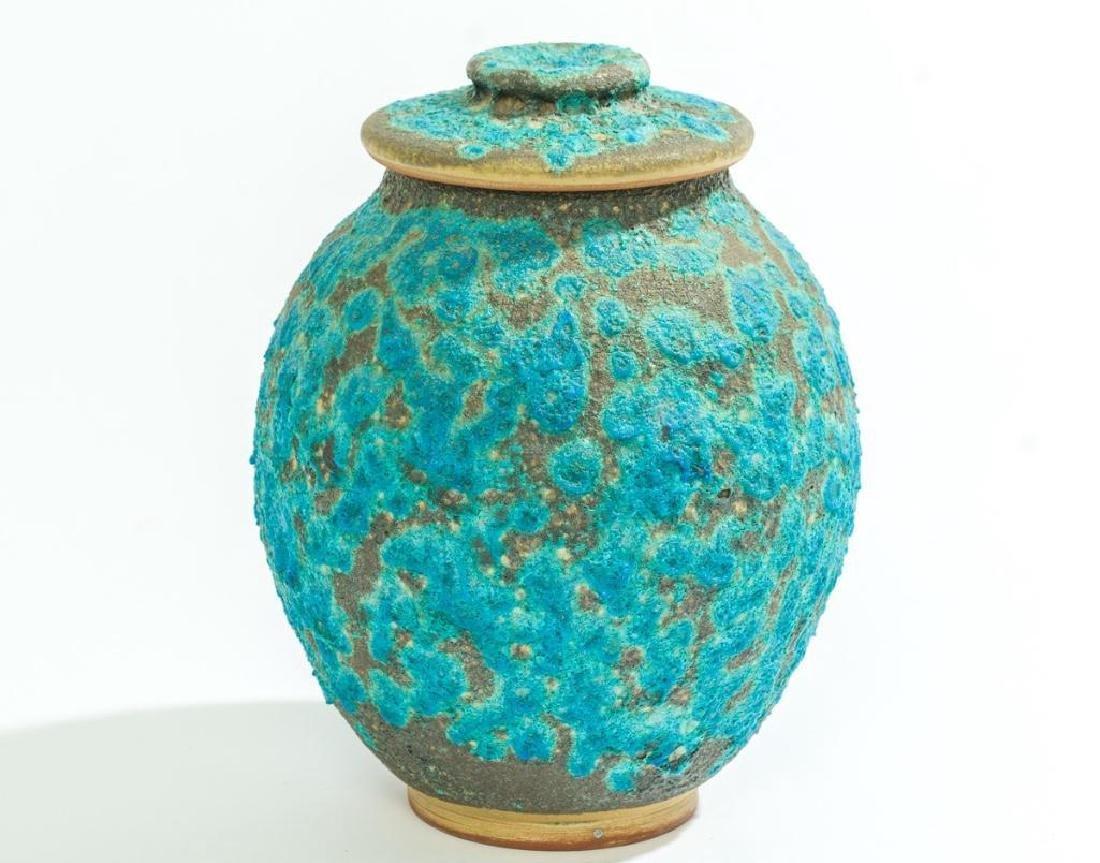 Harding Black (1912-2004), Turquoise Lava Ginger Jar,