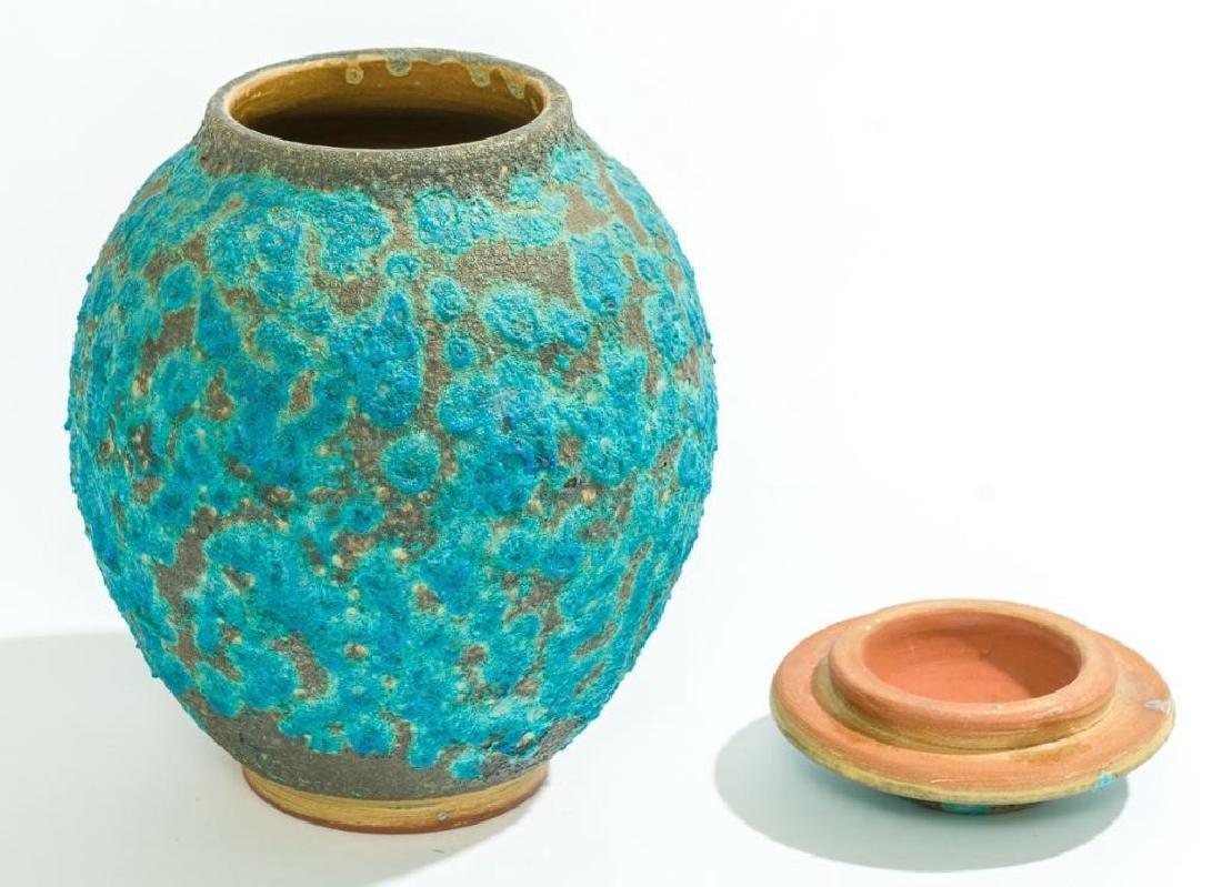 Harding Black (1912-2004), Turquoise Lava Ginger Jar, - 2