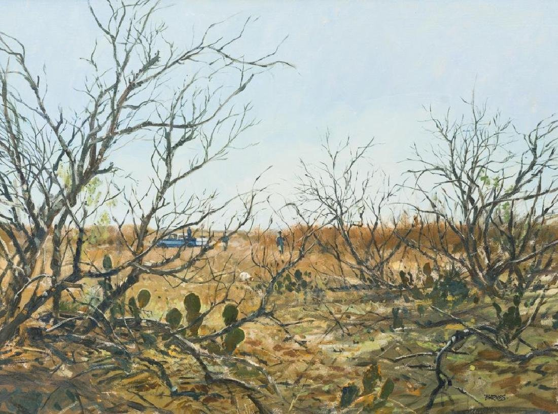 Al Barnes (1937-2015), Hunting Season, acrylic