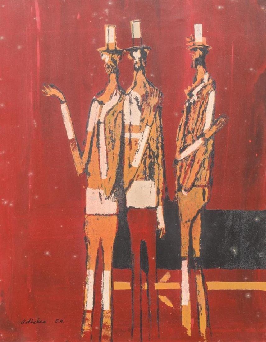 David Adickes (b. 1927), Men in Hats, serigraph EA