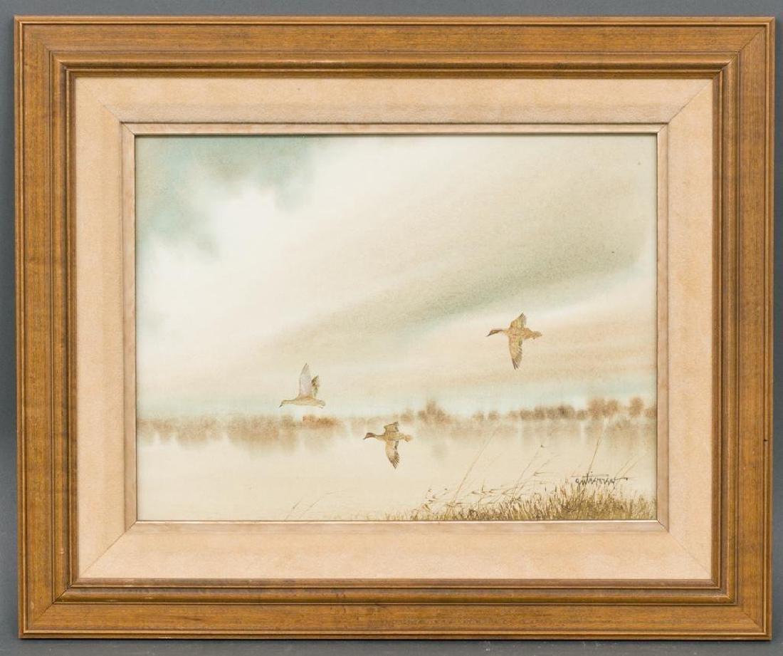 Raul Gutierrez (b. 1935), Ducks in Flight, watercolor - 2