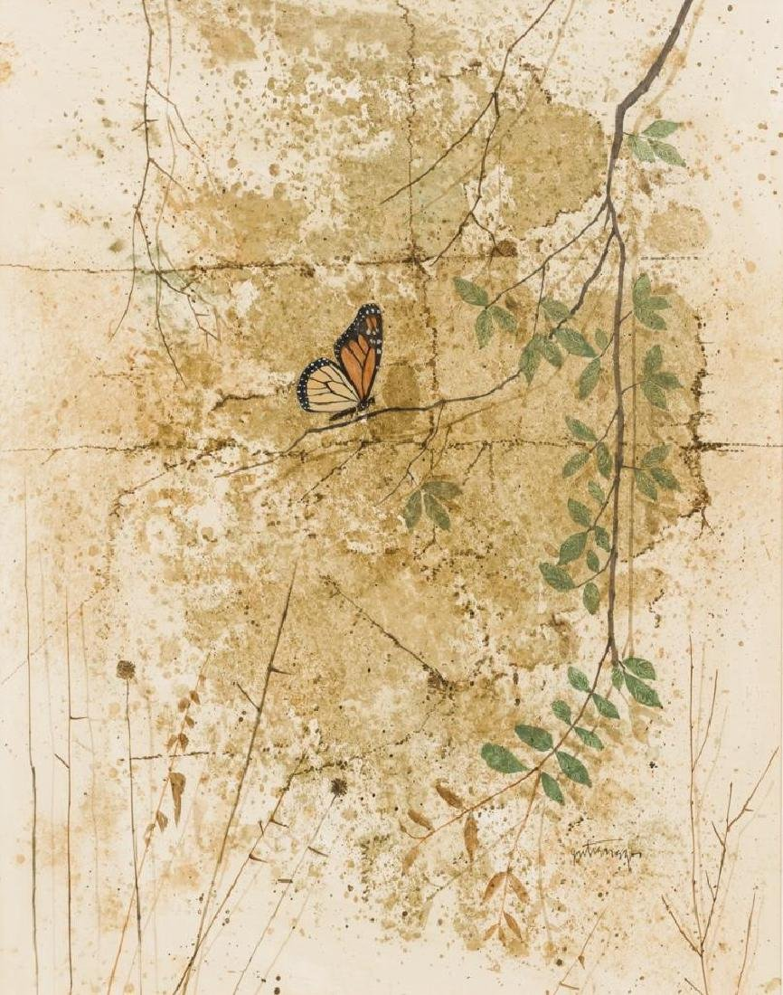 Raul Gutierrez (b. 1935), Butterfly, watercolor