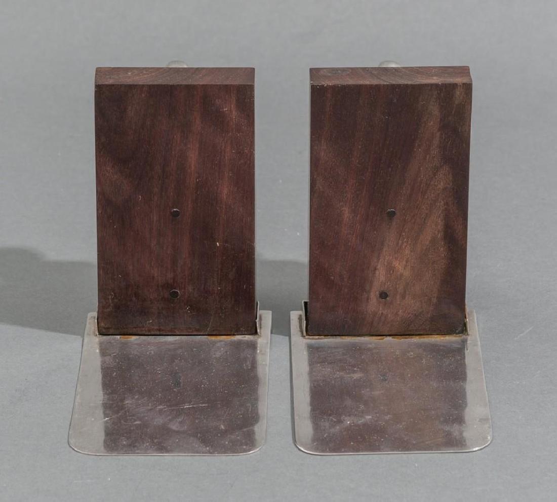 William Spratling Sterling & Rosewood Nautilus Bookends - 3