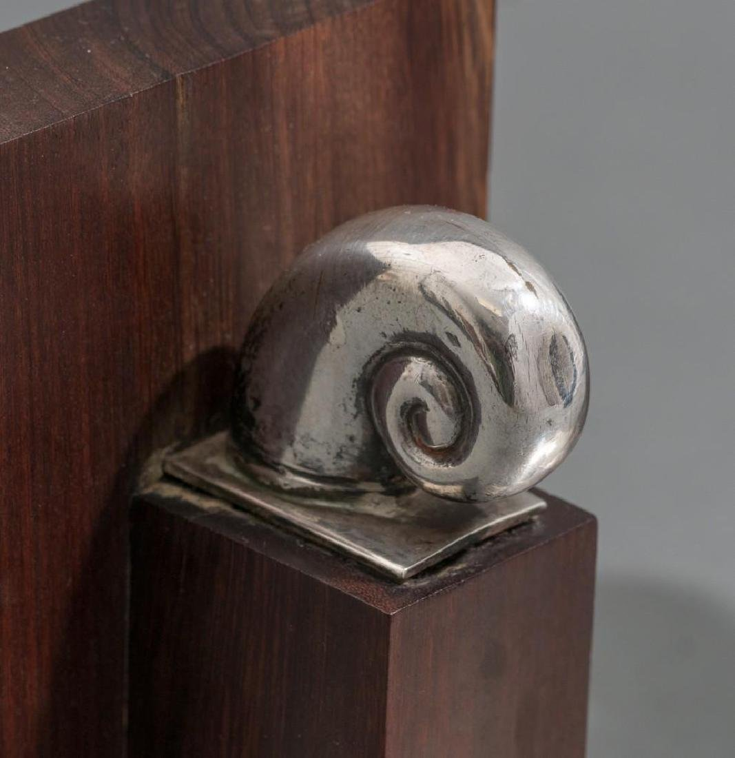 William Spratling Sterling & Rosewood Nautilus Bookends - 4