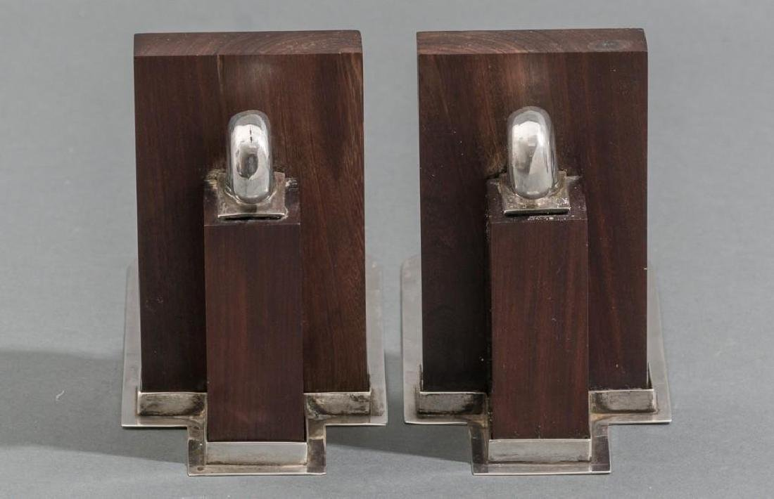 William Spratling Sterling & Rosewood Nautilus Bookends - 5