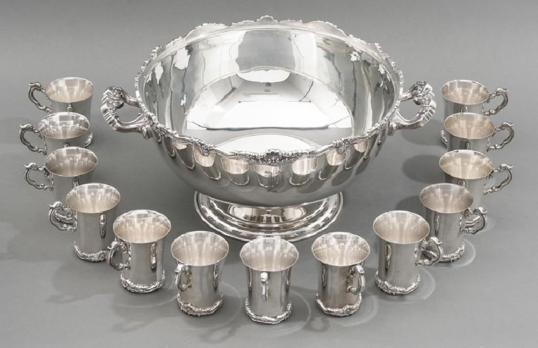 Conquistador 15 Piece Mexican Sterling Silver Punch Set