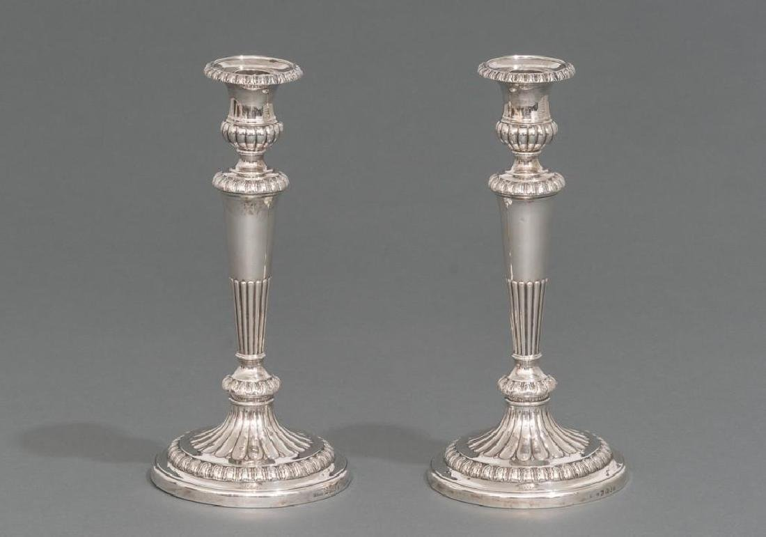 George III Period English Sterling Candlesticks