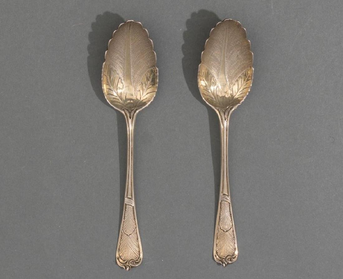 George II Period London .950 Silver Berry Spoons