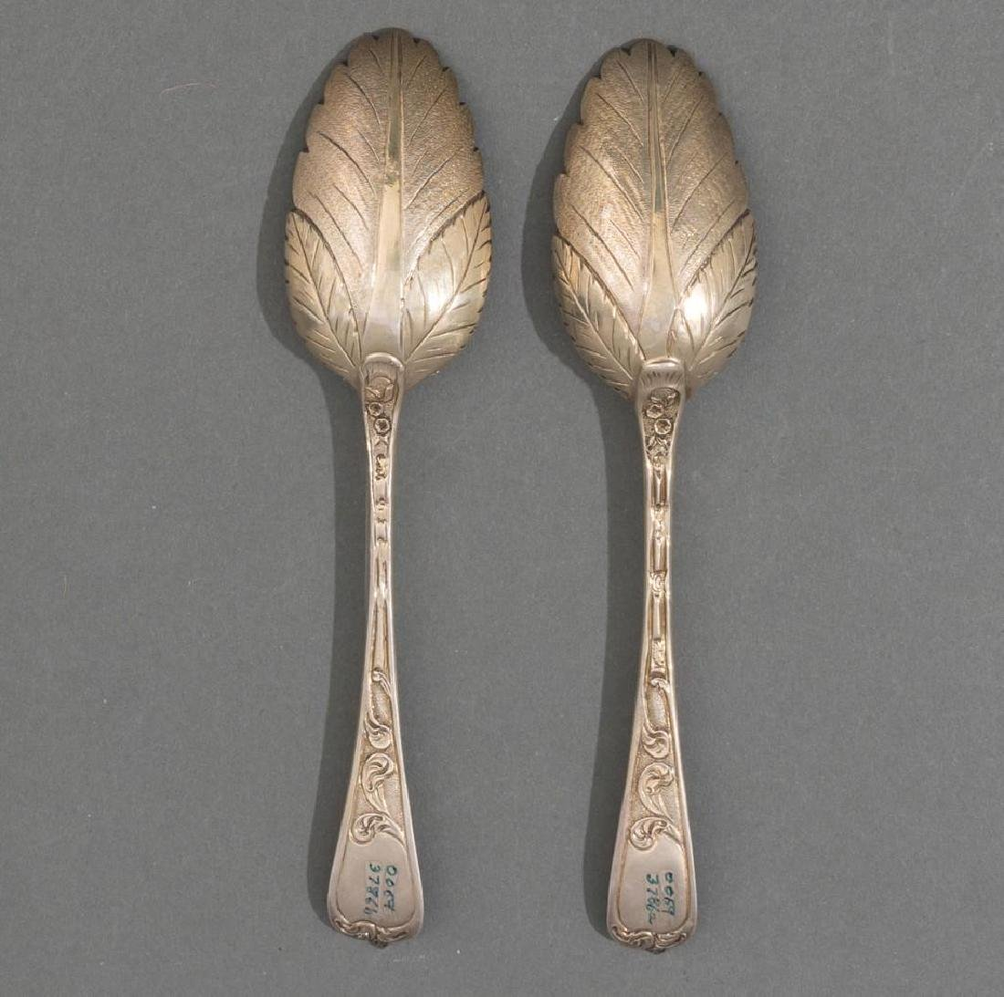 George II Period London .950 Silver Berry Spoons - 2