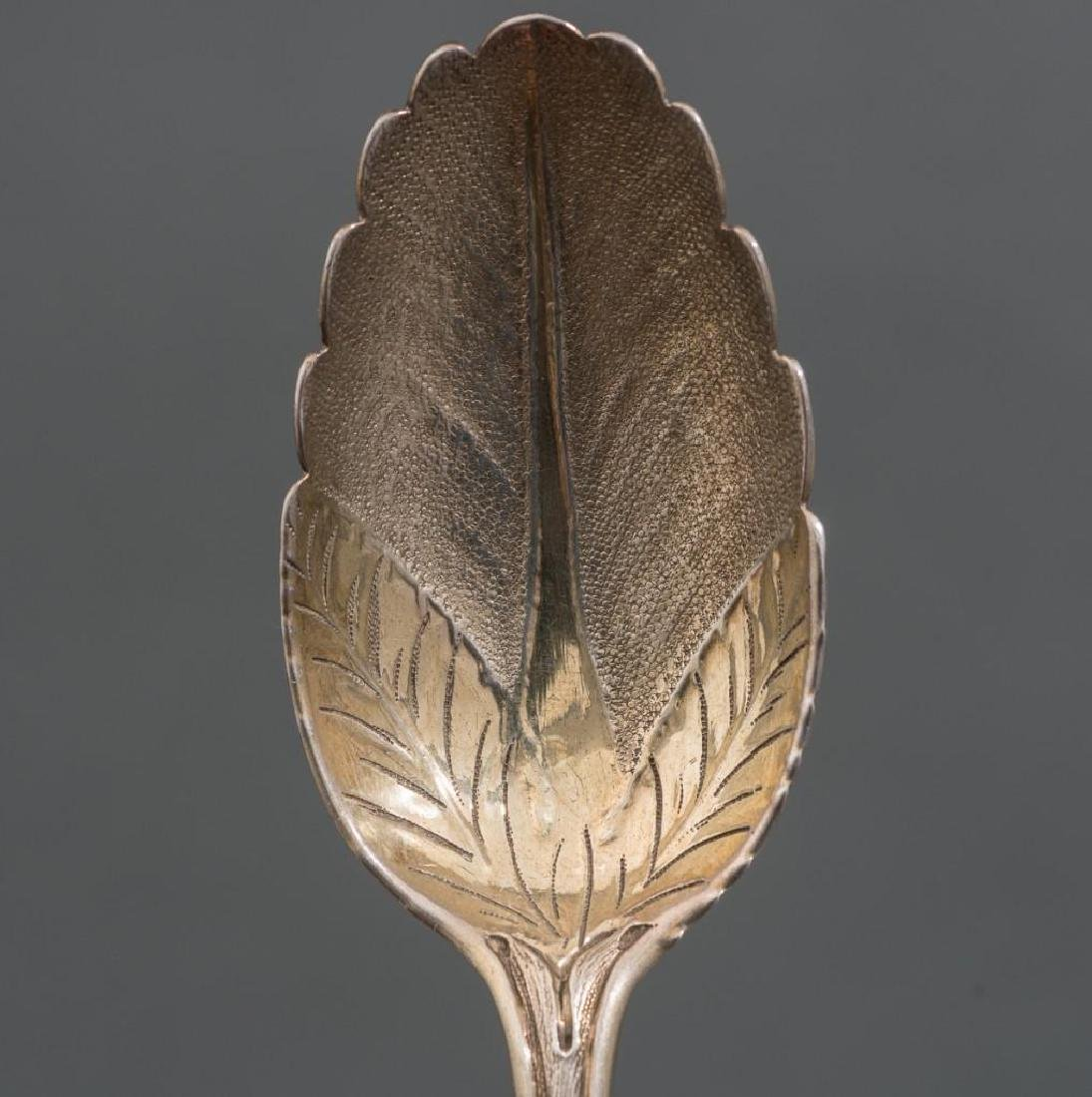 George II Period London .950 Silver Berry Spoons - 5