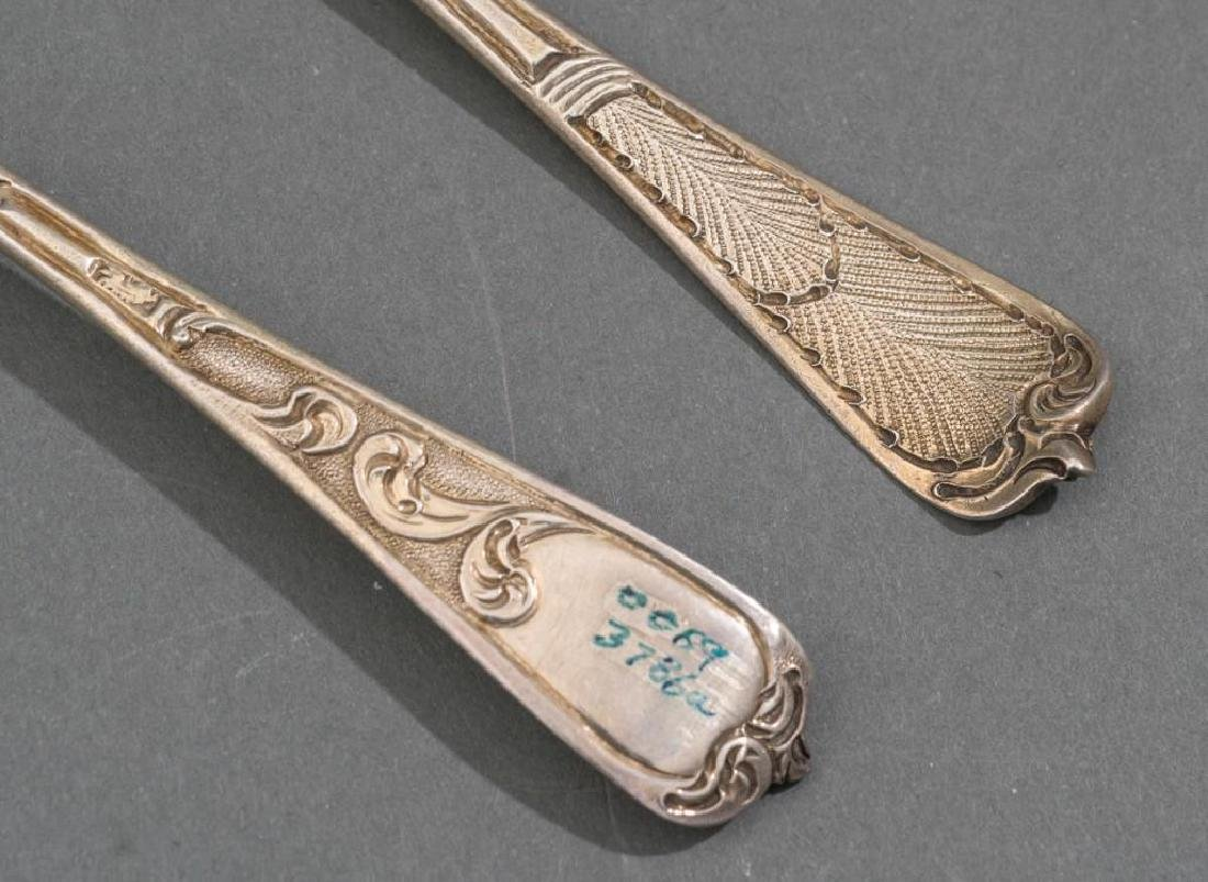 George II Period London .950 Silver Berry Spoons - 7