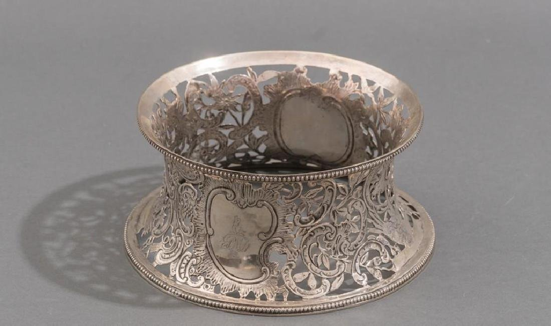 Irish Silver Dish/Potato Ring ca 1775