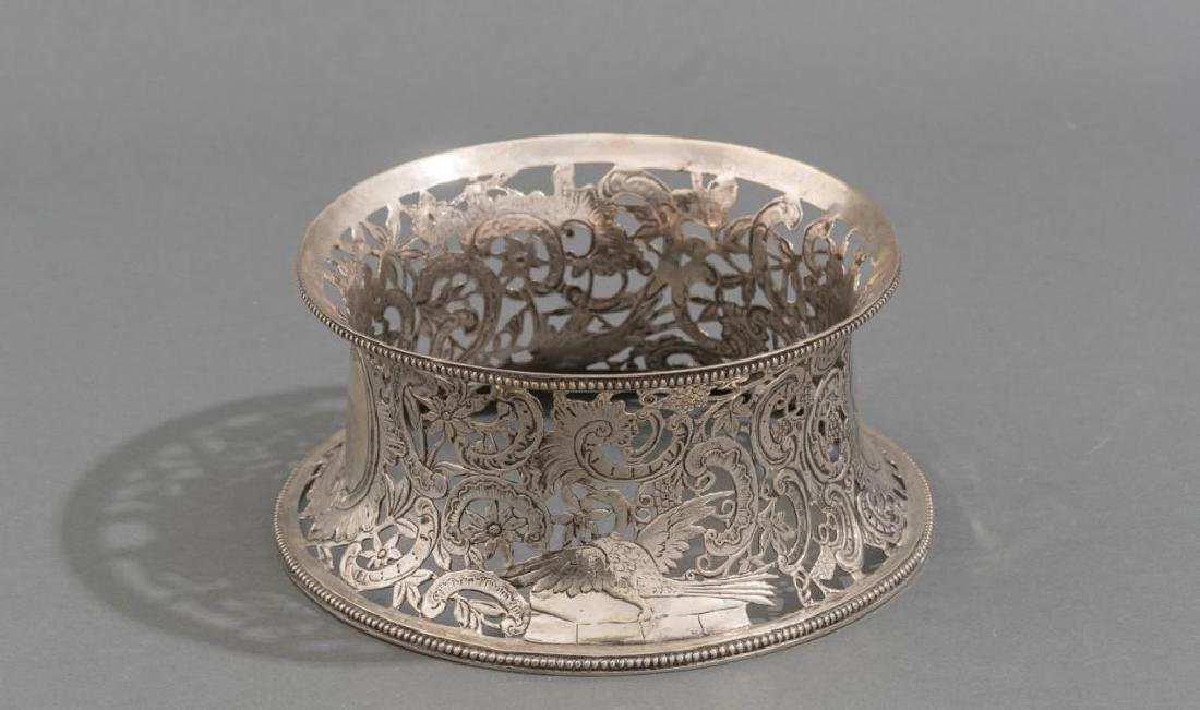 Irish Silver Dish/Potato Ring ca 1775 - 3