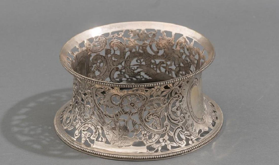 Irish Silver Dish/Potato Ring ca 1775 - 4