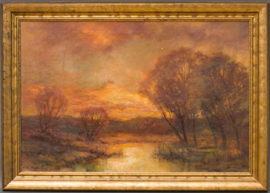 Charles P. Appel (New York, 1857-1928) Landscape, oil