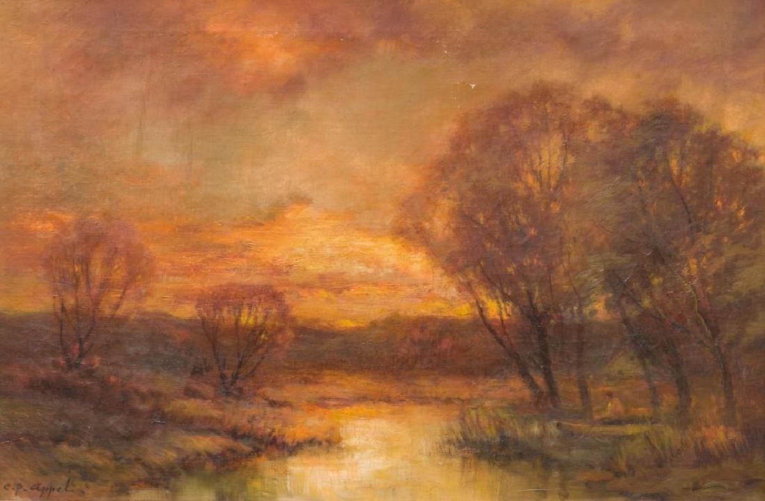 Charles P. Appel (New York, 1857-1928) Landscape, oil - 2