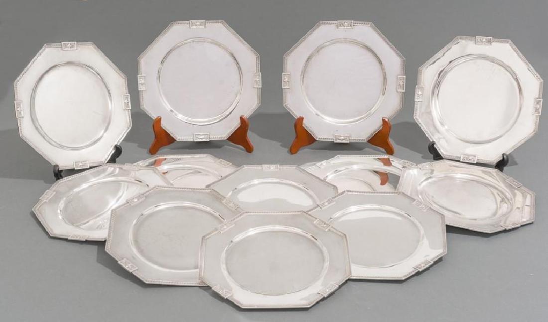 Lansdowne by Gorham Set 12 Sterling Service Plates