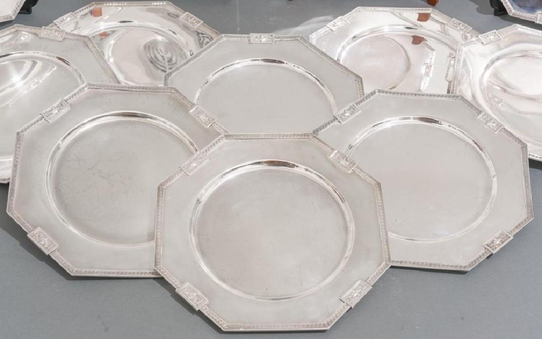 Lansdowne by Gorham Set 12 Sterling Service Plates - 2