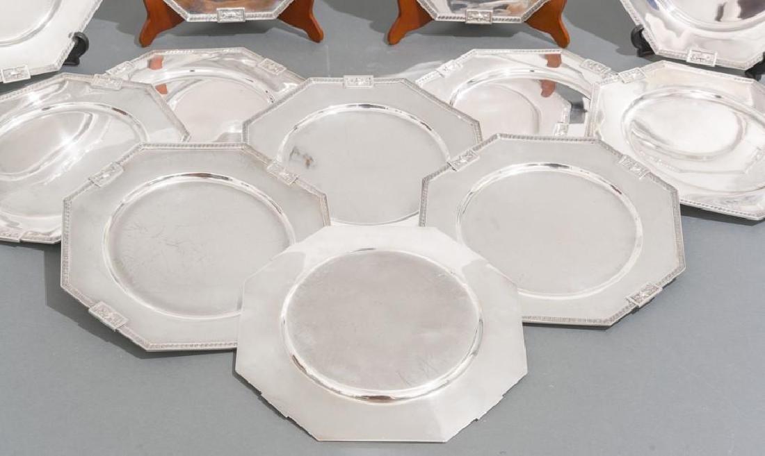 Lansdowne by Gorham Set 12 Sterling Service Plates - 3